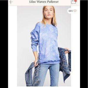 Free People Riverside Tool & Dye Lilac sweatshirt